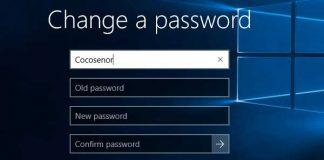 How to change password on windows 10